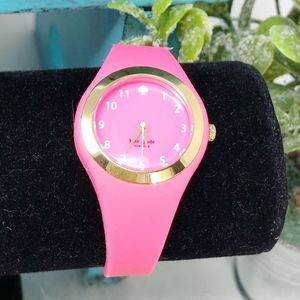 Kate Spade Rumsey Pink Silicone Strap Watch Works!